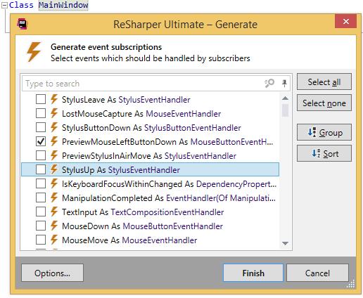 ReSharper: Generating event subscriptions in VB.NET