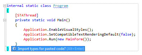 ReSharper: Namespace import fix for pasted code block