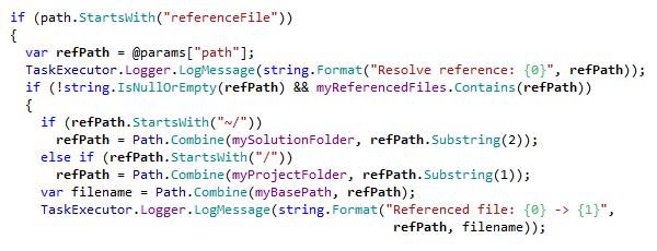 dotPeek: Syntax highlighting in C#