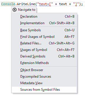 ReSharper: Navigating to external source file