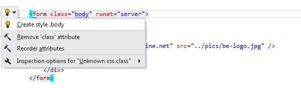 ReSharper: Create style quick-fix in CSS