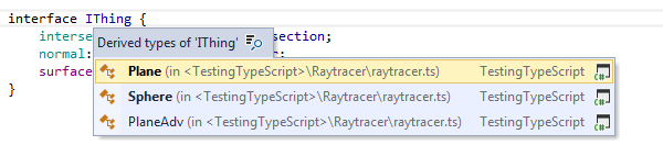 ReSharper: 'Go to Derived Symbols' in TypeScript