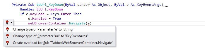 JetBrains Rider: Visual Basic support. Change type quick-fix