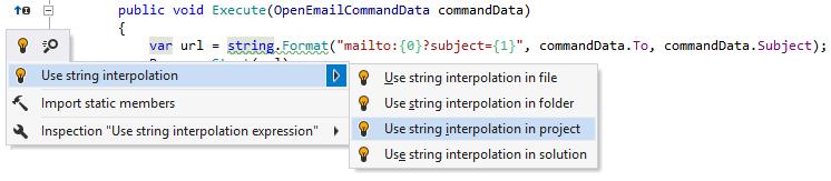 ReSharper helps implement new C# features