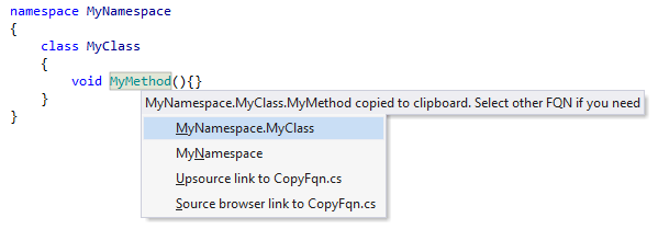 Copying fully-qualified type name with ReSharper