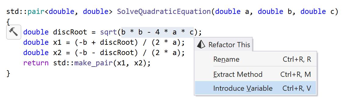 ReSharper: Introduce Variable