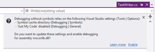 ReSharper: enabling debugging for compiled module
