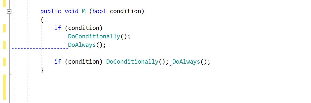 JetBrains Rider code inspection: Incorrect indent (around child statement)