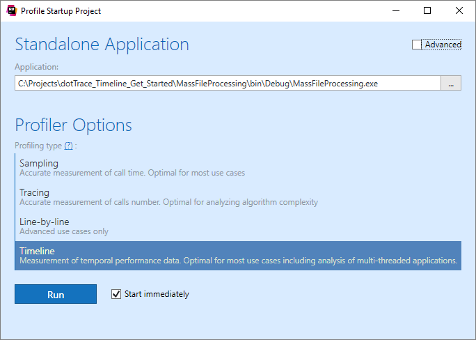 T1 profiling options