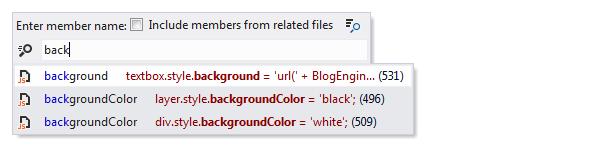 ReSharper: Go to File Member in JavaScript
