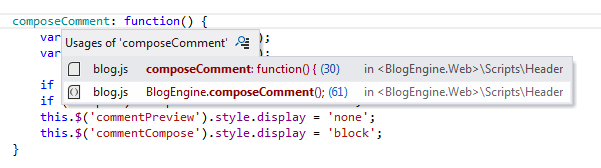 ReSharper: Go to Usage in JavaScript
