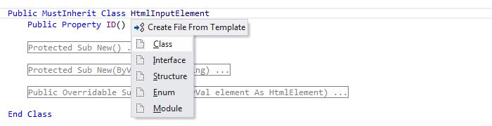 ReSharper: File templates in Visual Basic .NET