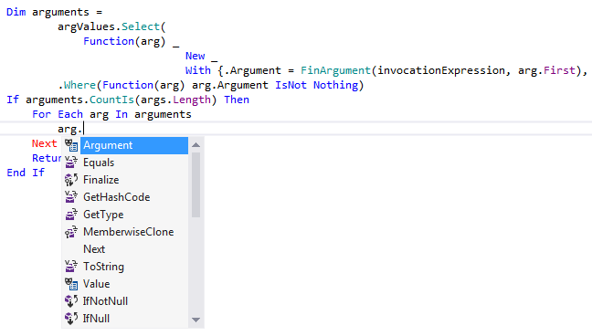 ReSharper: Code completion in VB.NET