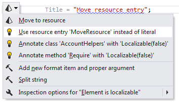 ReSharper: A quick-fix to replace a string literal with an existing resource entry