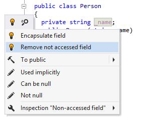 ReSharper detects unused field
