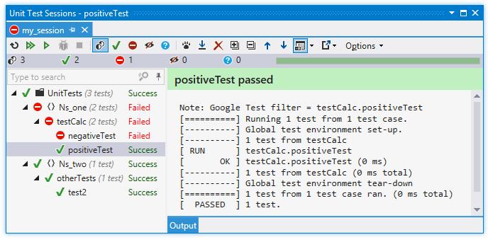 ReSharper: Unit test sessions for C++ tests