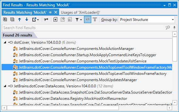 dotPeek: Find results window