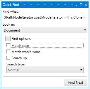 dotPeek: Quick Find dialog