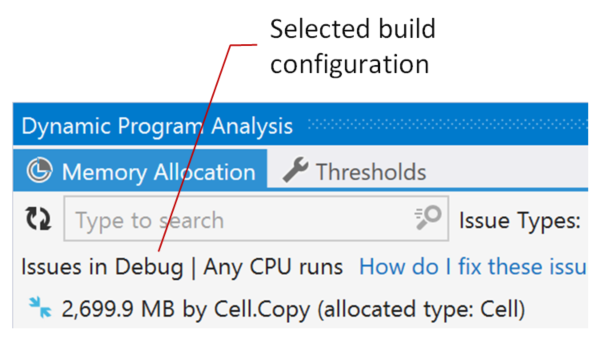 DPA. Selected build configuration