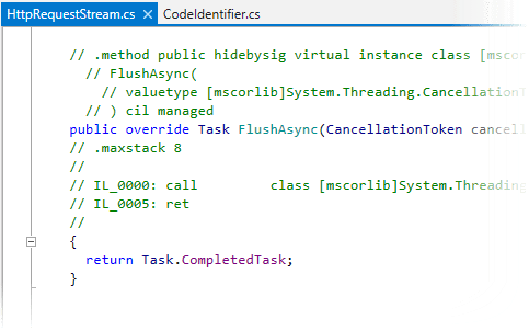 Viewing IL code as comments in decompiled code