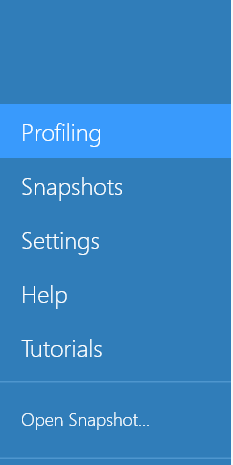 Profiling tab