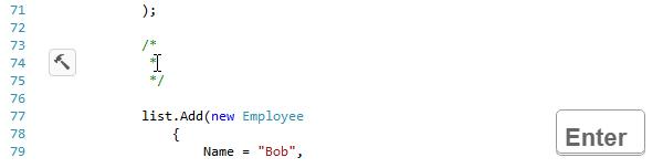 ReSharper. Making block comments multiline on Enter