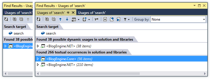 ReSharper: Find Usages in JavaScript