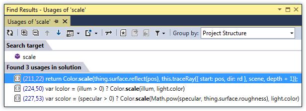 ReSharper: Find Usages in TypeScript