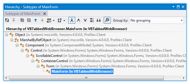 ReSharper: Type Hierarchy in VB.NET