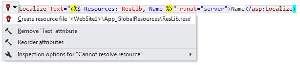 ReSharper: Create resource file quick-fix