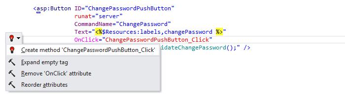 ReSharper: 'Create method' quick-fix in ASP.NET