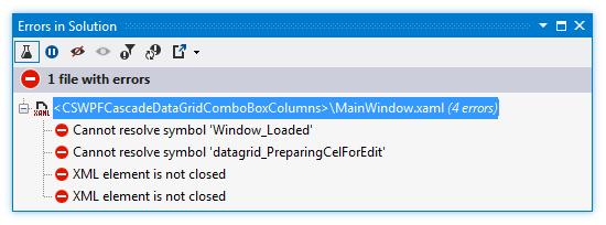ReSharper: XAML errors in solution