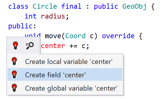 Generating C++ field from usage