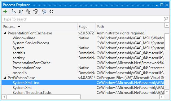 ReSharper: Process Explorer window