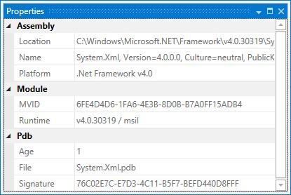 dotPeek: Properties window