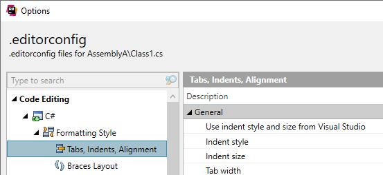 ReSharper: Edit .editorconfig interactively