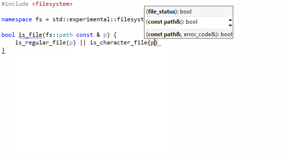 ReSharper C++: Free functions in code completion