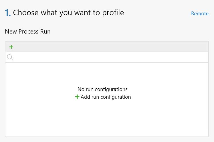 dotTrace. Add run configuration