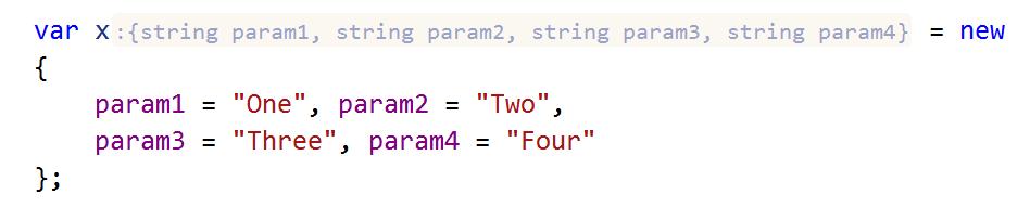 ReSharper: Inlay hints. long type name