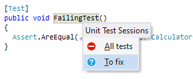 ReSharper: Locating a test in a unit tests session