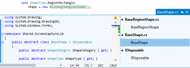ReSharper. Studying base symbols in the Peek Definition view
