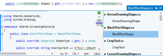 ReSharper. Studying implementations of the symbol in the Peek Definition view