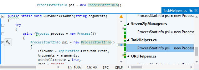 ReSharper. Studying symbol usages in the Peek Definition view