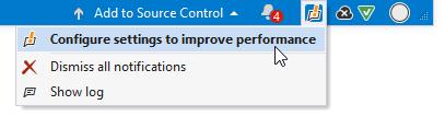 ReSharper: Performance guide status-bar notification