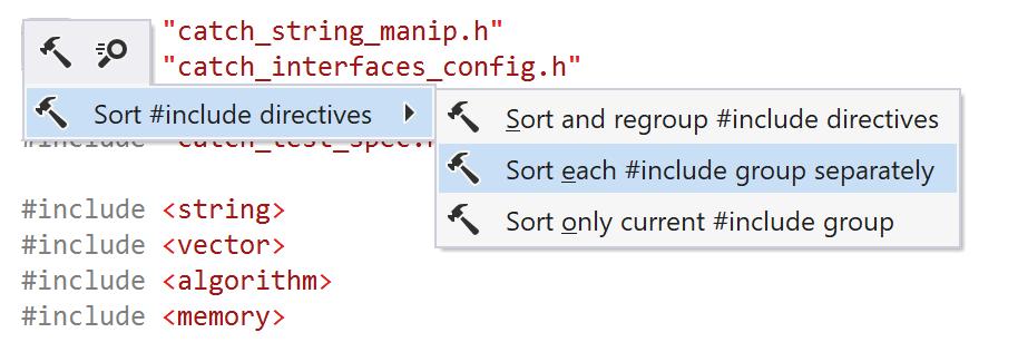 ReSharper C++: Sort each #include group separately
