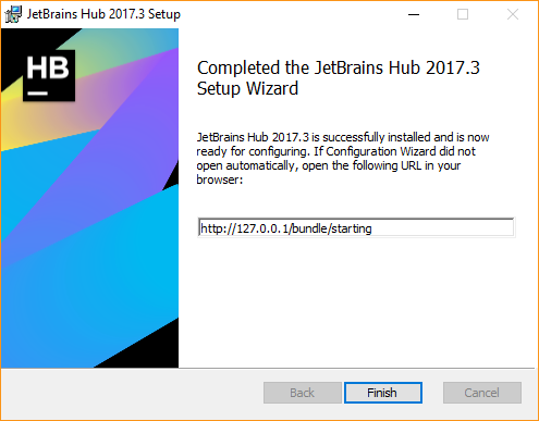 install setup wizard complete