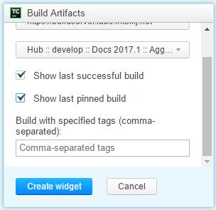addBuildArtifactWidgetConf