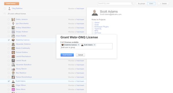 grant license group members