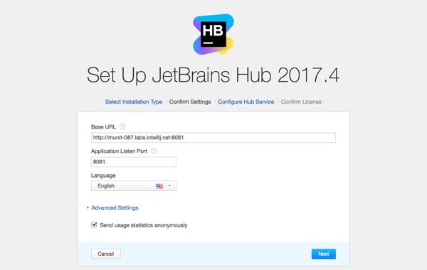 hub install settings