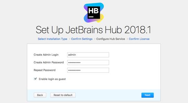 hub install admin pwd